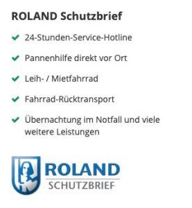 ROLAND-Schutzbrief bei der Ammerländer E-Bike-Versicherung