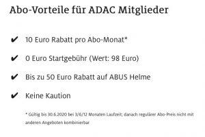 ADAC e-Ride Vorteile für ADAC-Mitglieder